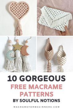 Macrame Design, Macrame Art, Macrame Jewelry, How To Macrame, Micro Macrame, Macrame Supplies, Macrame Projects, Free Macrame Patterns, Macrame Wall Hanging Patterns