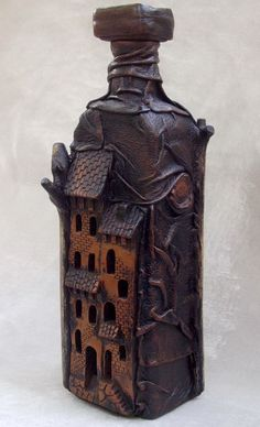 The wonderful work of the artist Marino Mironov. Ceramics and leather - http://alivecat.livejournal.com/93131.html