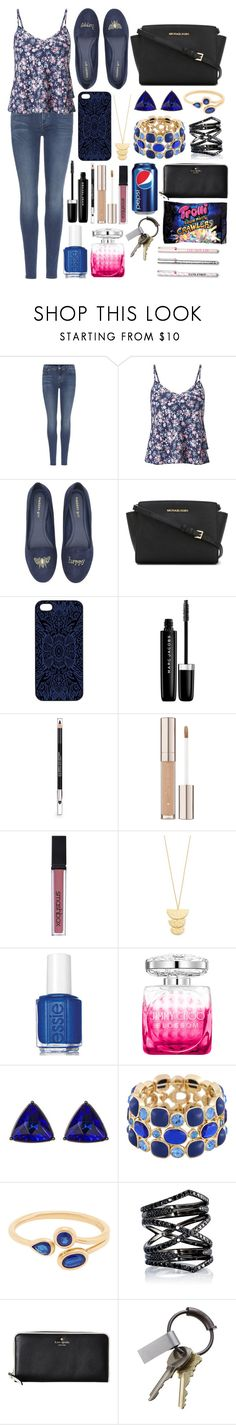 """""""#283"""" by nattiexo ❤ liked on Polyvore featuring 7 For All Mankind, Miss Selfridge, Madden Girl, MICHAEL Michael Kors, Samantha Warren London, Marc Jacobs, The Body Shop, Smashbox, Gorjana and Essie"""