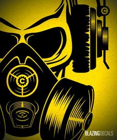 Skull with Headphones and Gas Mask - Vinyl Wall Decal Dorm Sticker Blazing Decals http://www.amazon.com/dp/B00A27JNOU/ref=cm_sw_r_pi_dp_omHKtb0B5MCKG4DN
