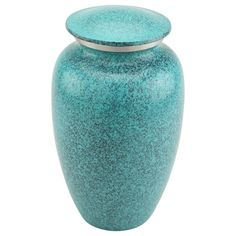 The+Blue+Speckle+Cremation+Urn+for+Ashes+|+Brass+&+Metal+Urns