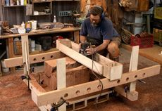 Router Jig Turns Stumps into Beautiful Side Tables - Nick Offerman is quickly becoming a hero of mine.