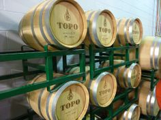 Whiskey aging in barrels at TOPO in Chapel Hill. http://tarheeleater.com/2013/07/tour-of-topo-distillery/