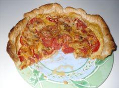 Recette tarte aux tomates par Maryse : C'est une recette weight watcher, ultra légère en temps de petit régime avant les vacances....Ingrédients : tomate