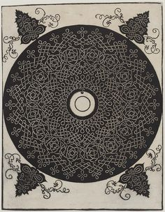 Knot with a Black Circle on a White Medallion by Albrecht Durer