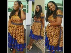 Hey Guys, We want you to take seat and watch these Ankara styles that are too dapper for you to ignore. We can tell you that these Ankara styles are creative, classy and exciting to have. African Print Dresses, African Fashion Dresses, African Attire, African Wear, African Women, African Dress, African Style, Ankara Fashion, African Prints