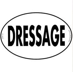 Vinyl Sticker-Dressage