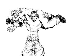 kane mask coloring pages   John Cena Coloring Page   WWE party   Wwe coloring pages ...