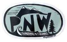 Show your love for the Pacific Northwest with this rad sticker! Designed by us in Washington, from an original block print and printed in Oregon, this sticker is PNW through and through. Printed on hi