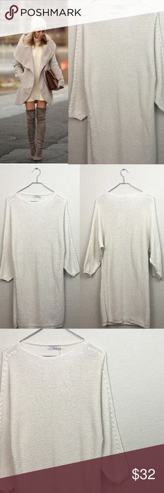 db3468b0bcbe Zara sweater dress New with tags Zara knit cream dress size medium. Model in  picture