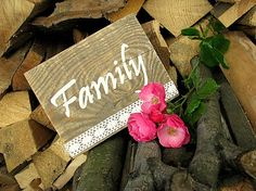 HaM / Family Wood with quote - sign