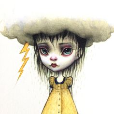' Une mauvaise journée - Feel Better Stormcloud Girl '