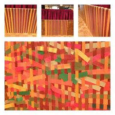 Weaving Ribbon prayer station - this would be cool for a year project or even just for Lent