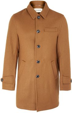Oliver Spencer Tan Wool Felt Grandpa Coat on shopstyle.co.uk