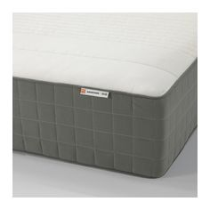HAUGSVÄR Spring mattress - medium firm/dark gray, Queen - IKEA
