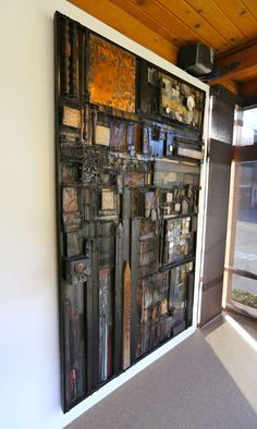 Monumental California Mixed Media Assemblage by Max Neufeldt | From a unique collection of antique and modern wall-mounted sculptures at http://www.1stdibs.com/furniture/wall-decorations/wall-mounted-sculptures/