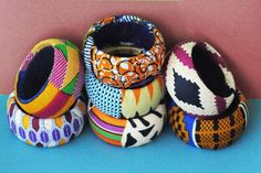 SET OF 3 African Tribal Bangles ( Create Your Set )