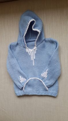 baby hooded sweater child sweater knitting by NORTHsKNITTINGs