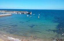 Puerto de Lastres desde la Playa El Escanu