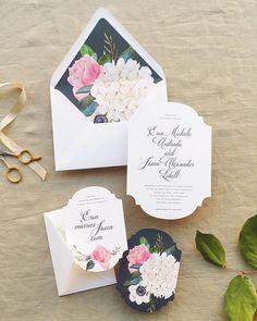 hydrangea wedding invites