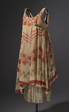 Léon Bakst, Costume for a nymph, c.1912. Silk chiffon, lamé, metallic ribbon, cotton centre back 90.0 h cm. Ballets russes de Serge Diaghilev