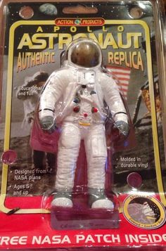 Apollo Astronaut Authentic Replica with free NASA Patch Inside From 1998 #ActionProducts