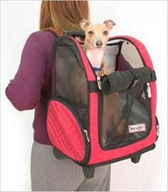 Dog Carrier: There's no excuse not to take your small dog with you everywhere you go toting them in these great soft sided Wheel-Around Pet Carriers. Small and Medium are airline approved for on-board