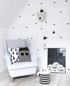 93 Best Monochromatic Nursery Images Baby Room Girls Decor Room - Creative-side-system-for-fans-of-a-fashionable-black-and-white-color-theme-by-fimar