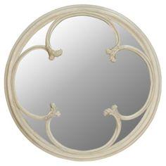 Paseo Round Mirror Blanc, by Yen Concept