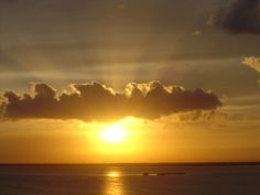 Sunset over Cancun