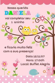 Convite digital personalizado Corujas 003