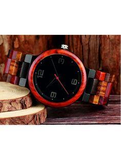 Moderní náramkové hodinky vyrobené ze dřeva-GEORGIA-Yisuya Kód:  DH00017-3-Wooden wrist watch  Stav:  Nový produkt  Dostupnost:  Skladem   Elegantní dřevěné hodinky s jedinečným designem. Dárek vhodný pro muže i ženu. Hodinky jsou vyrobeny z přírodních materiálů bez umělých barviv. Wood Watch, Watches, Gifts, Accessories, Design, Wrist Watches, Presents, Wristwatches, Wooden Clock