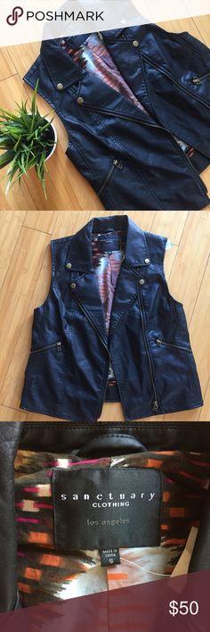 Sanctuary leather vest S Leather vest from Los Angeles designer sanctuary size small NWT from tjmaxx Sanctuary Jackets & Coats Vests