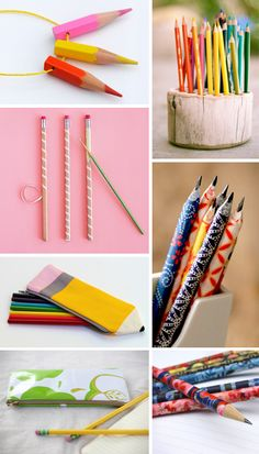 Do you like pencils? I do. Especially when they're pretty or come in a fancy pouch. Check out these tutorials: