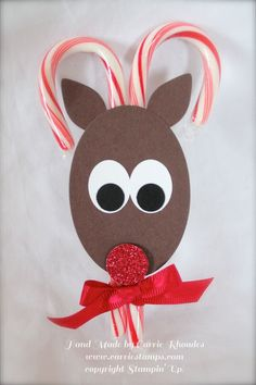 Stampin' Up! Reindeer Candy Cane Treat Holder
