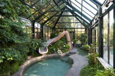 Greenhouse Pool Cover - #3 of 5 great images found here: http://blog.bcgreenhouses.com/index.php/2012/10/greenhouse-pool-cover/