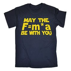 MAY THE F=M*A BE WITH YOU - NEWTONS FORCE LAW (L - OXFORD NAVY) NEW PREMIUM LOOSE FIT T-SHIRT - slogan funny clothing joke novelty vintage retro t shirt top men's ladies women's girl boy men women tshirt tees tee t-shirts shirts fashion urban cool geek nerd big theory force wars star teacher science physics sheldon bang cooper day for him her brother sister mum dad mummy daddy father mother birthday ideas gifts christmas present gift S M L XL 2XL 3XL 4XL 5XL - by Fonfella 123t Slogans…