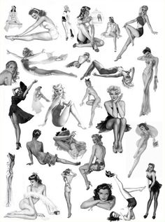 Alberto Vargas pin up girl examples