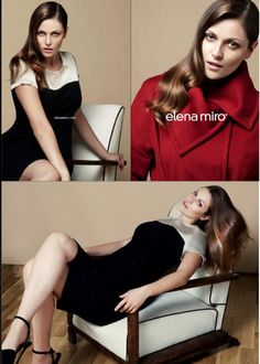 Model Jesssica Lewis of Muse Model Management appears in a new campaign for Elena Miro's Fall/Winter 2013 collection.
