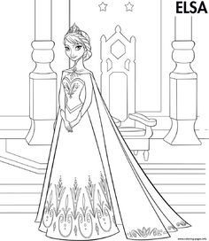 13 Best Frozen Coloring Pages Images On Pinterest Coloring Pages