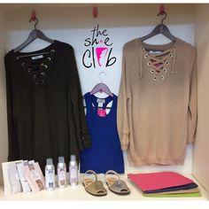 Best sellers of the week💥🎉  Pons $85, Laceup sweaters $63.20, Mud Pie Carryall $4.50, Greenleaf Spray $5, Greenleaf Sachet $1.50, Razorback shirts $5. ☎️210-824-9988