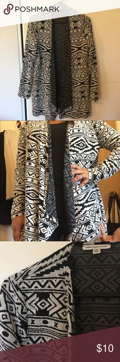 Tribal print sweater Long sleeve tribal cardigan. Nice thin material. Worn a few times. Excellent condition American Eagle Outfitters Sweaters
