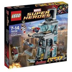 Lego 76038 Marvel Super Heroes Attack On Avengers Tower - Age Of Ultron for sale online Toys R Us, Kids Toys, Lego Marvel's Avengers, Thor, Legos, Iron Man, Die Rächer, Hulk, Buy Lego