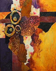 Slow Tango, 051318 by Carol Nelson mixed media ~ 20 inches x 16 inches
