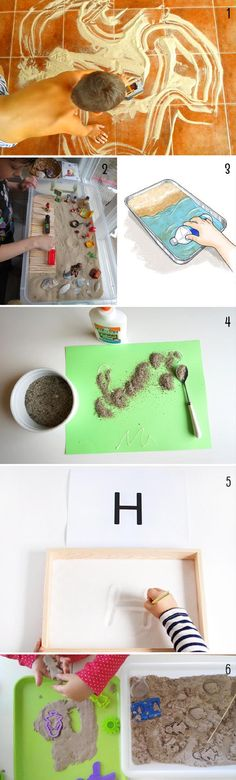 juegos con arena para niños