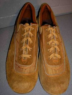 Sz 11 New VTG 70s MENS Hound Dog BROWN SUEDE Leather OXFORD NOS PLATFORM SHOE 11 | eBay