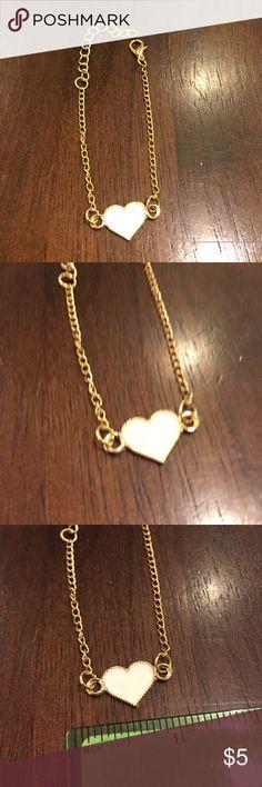 White heart bracelet Brand new in packaging Jewelry Bracelets