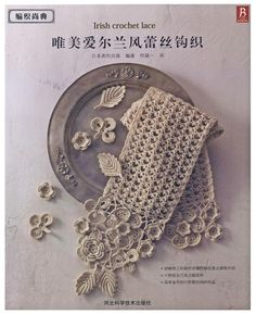 Japanese Home Decor Doilies Bag Irish Crochet Lace Pattern Ebook D2-703 in Chinese