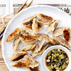Duck Gyoza: gyoza, also known as jiaozi, are Chinese dumplings often containing a meat or vegetable filling. Learn to make these delicious little parcels with our step-by-step guide to duck gyoza. Accompanied by a homemade dipping sauce, it's the perfect dish to entertain friends and ring in the Chinese New Year