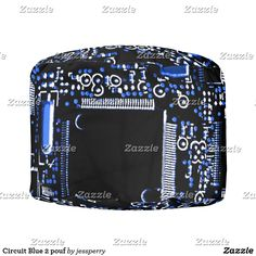 Circuit Blue 2 pouf